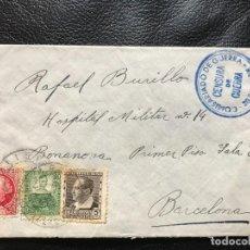 Timbres: SOBRE DIRIGIDO AL HOSPITAL MILITAR Nº 14 DEL PASEO DE LA BONANOVA DE BARCELONA CON... Lote 274804263