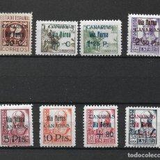 Sellos: ESPAÑA CANARIAS 1938 EDIFIL 44/51 */ ** MARQUILLADOS ROIG - 187. Lote 275164218