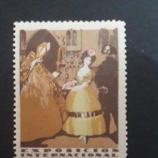 Sellos: VIÑETA ORIGINAL EXPOSICIÓN INTERNACIONAL DE BARCELONA. 1929.. Lote 275609008