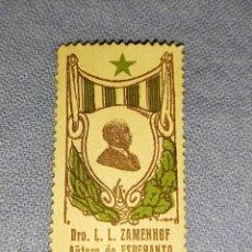 Sellos: SELLO DRO. L.L. ZAMENHOF AUTORO DE ESPERANTO. Lote 275692918