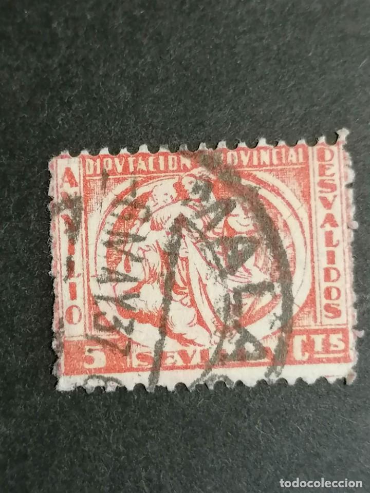 Sellos: España Guerra Civil sellos Viñeta Sevilla matasellos Magala 1937 usado - Foto 2 - 275864848