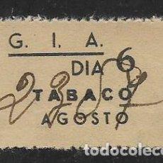 Sellos: G.I.A. DIA 6.- AGOSTO 37.- --TABACO-- REPUBLICANO, VER FOTO. Lote 275993893
