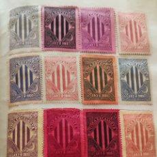 Sellos: HOJA CON 16 VIÑETAS VISCA CATALUNYA ANY 1900 TAMAÑO GRANDE. Lote 276299978