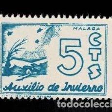 Sellos: CL8-13 GUERRA CIVIL MALAGA AUXILIO DE INVIERNO FESOFI Nº 15 COLOR VARIEDAD AZUL VERDOSO SIN FIJASEL. Lote 276570858