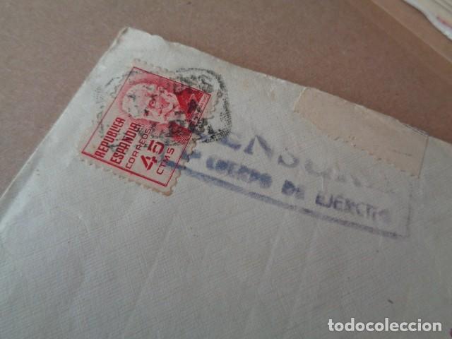 Sellos: 4º CUERPO DE EJERCITO. CENSURA. CARTA DIRIGIDA A VALENCIA. 1938 - Foto 2 - 276579973