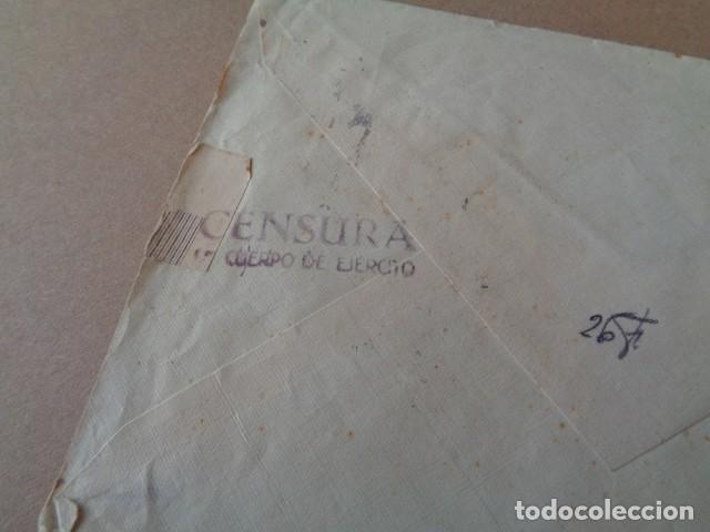 Sellos: 4º CUERPO DE EJERCITO. CENSURA. CARTA DIRIGIDA A VALENCIA. 1938 - Foto 3 - 276579973