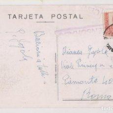 Timbres: TARJETA POSTAL ILUSTRADA DE FRANCO. 1937. VALLADOLID A ROMA. CENSURA MILITAR. Lote 276582238