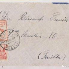 Timbres: SOBRE. VILLALBA DEL ALCOR, HUELVA. 1937. LOCAL Y CENSURA MILITAR. Lote 276583113