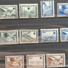 Sellos: ESPAÑA GUERRA CIVIL SELLOS BILBAO FRANCO AÑOS 1936 RESTO COLECCION USADO. Lote 276618318