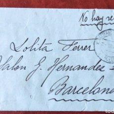 Francobolli: GUERRA CIVIL CARTA HOSPITAL MILITAR Z MONTSERRAT 1938 NO HAY SELLOS. Lote 276934938