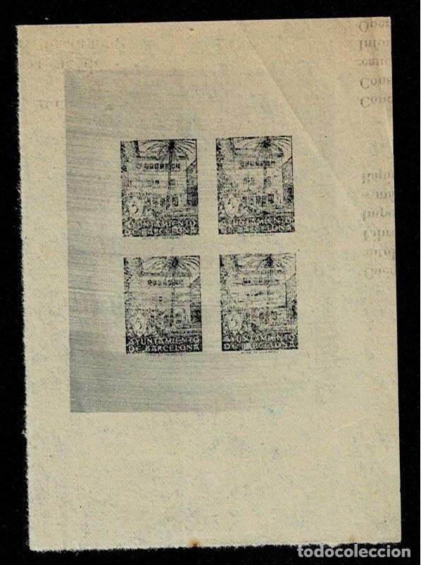 L23-3-18 AYUNTAMIENTO DE BARCELONA -VI ANIVERSARIO DE LA LIBERACION DE BARCELONA -EDIFIL NE 27S SIN (Sellos - España - Guerra Civil - Locales - Cartas)