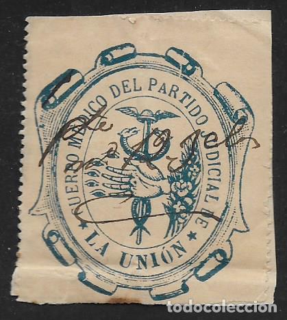 LA UNION.-VIÑETA,CUERPO MEDICO DEL PARTIDO JUDICIAL, VER FOTO (Sellos - España - Guerra Civil - Locales - Nuevos)