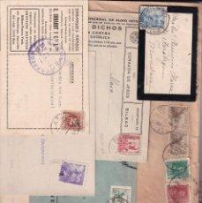 Sellos: LOTE 10 PIEZAS HISTORIA POSTAL BILBAO. VER FOTOS CARTERIA ESTACION ALCANCE. Lote 277411693