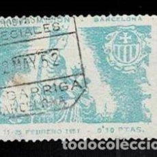 Sellos: CL8-6 BARCELONA SANTA MISION 11- 25 FEBRERO 1951 VALOR 0,10 PTAS. MATASELLOS SERVICIOS ESPECIALES L. Lote 277453063