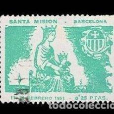 Sellos: CL8-6 BARCELONA SANTA MISION 11 25 FEBRERO 1951 VALOR 0,25 PTAS. MATASELLOS SERVIIOS ESPECIALES LA. Lote 277453213