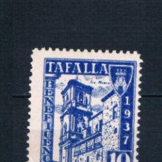 Sellos: GUERRA CIVIL. SELLO LOCAL TAFALLA BENEFICENCIA 1937 10 CTS ** LOT006. Lote 277465003