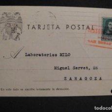 Sellos: TARJETA POSTAL - CENSURA MILITAR SAN SEBASTIAN - AÑO 1938. Lote 277554078