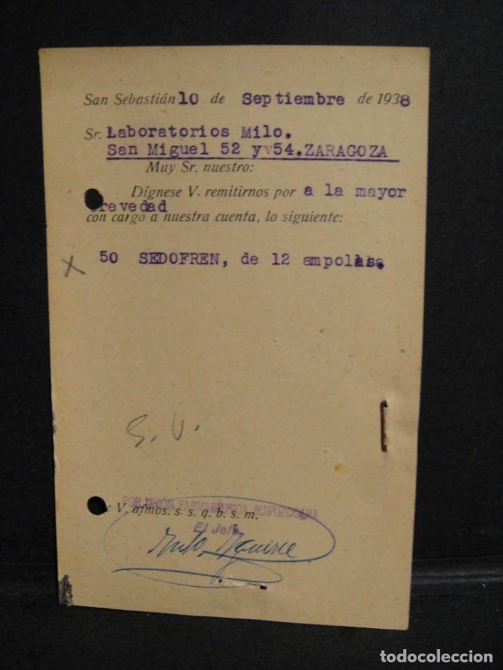 Sellos: tarjeta postal - censura militar san sebastian - año 1938 - Foto 2 - 277554303