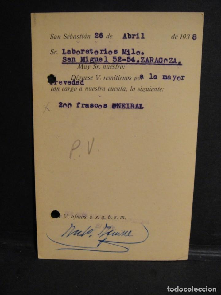 Sellos: tarjeta postal - censura militar san sebastian - año 1938 - Foto 2 - 277554698