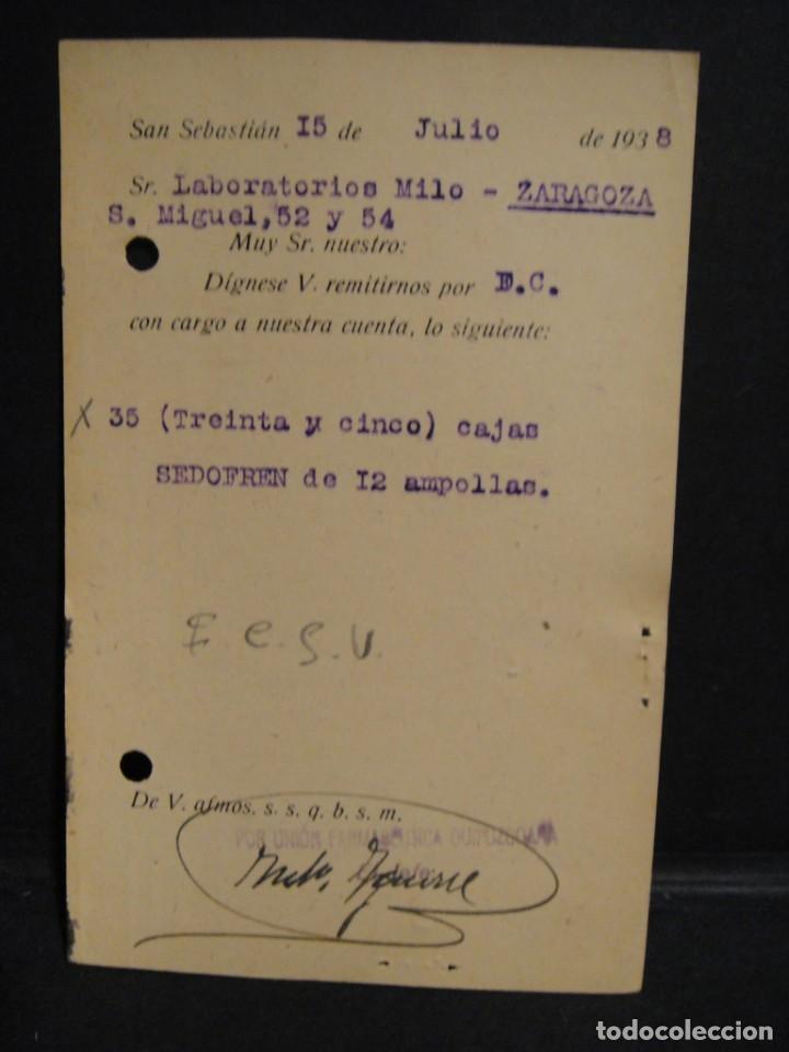 Sellos: tarjeta postal - censura militar san sebastian - año 1938 - Foto 2 - 277554963
