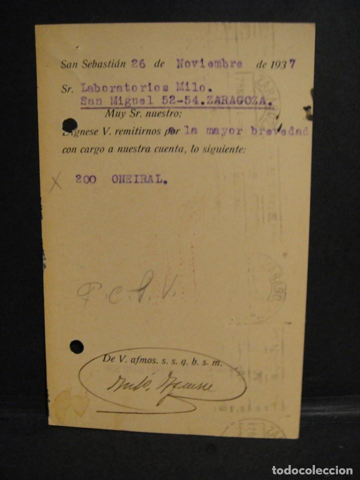 Sellos: tarjeta postal - censura militar san sebastian - año 1937 - Foto 2 - 277555118