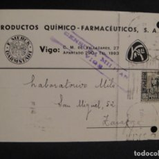 Sellos: TARJETA POSTAL - CENSURA MILITAR VIGO - AÑO 1937. Lote 277555438