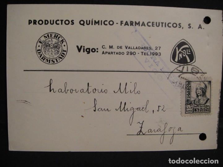 TARJETA POSTAL - CENSURA MILITAR VIGO - AÑO 1938 (Sellos - España - Guerra Civil - De 1.936 a 1.939 - Cartas)