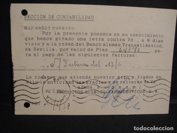 Sellos: tarjeta postal - censura militar vigo - año 1938 - Foto 2 - 277555588