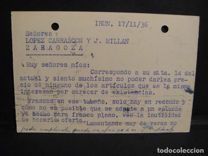 Sellos: tarjeta postal - censura militar irun - año 1936 - Foto 2 - 277555793