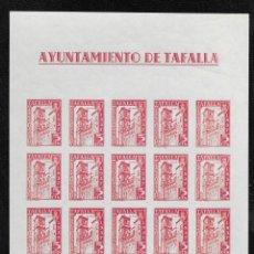 Sellos: TAFALLA (NAVARRA) EDIFIL 15* HOJA COMPLETA DE 20 SELLOS. Lote 277586853