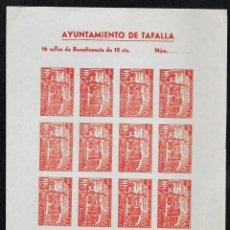 Sellos: TAFALLA (NAVARRA) EDIFIL 14 S* MAGNIFICA Y RARA HOJA COMPLETA DE 16 SELLOS. Lote 277613788