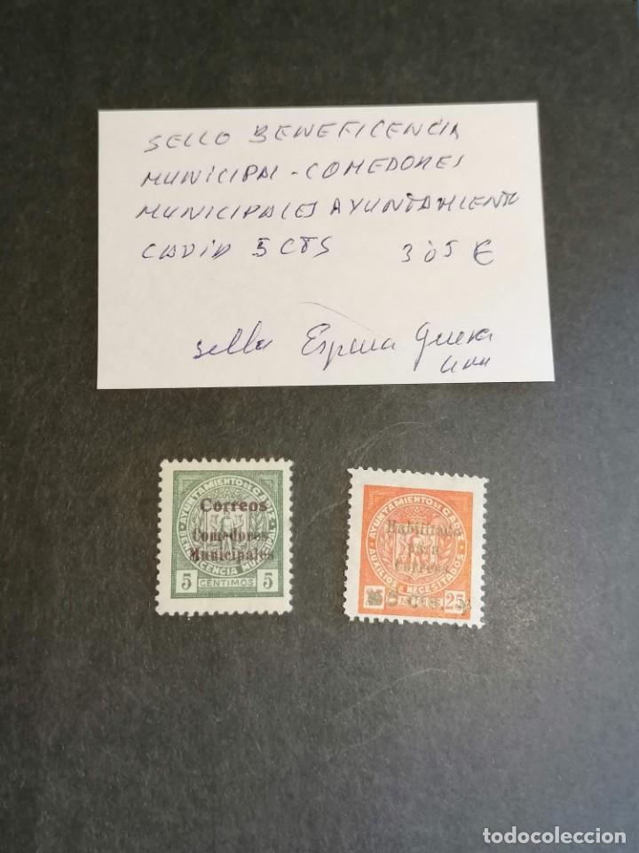 Sellos: España sellos Guerra Civil Cadiz año 1937 lote 2 sellos viñetas beneficiencia nuevo *** - Foto 2 - 277614403
