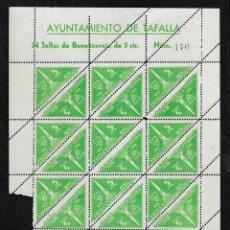 Sellos: TAFALLA (NAVARRA) EDIFIL 22* BONITA HOJA COMPLETA DE 24 SELLOS. Lote 277623743