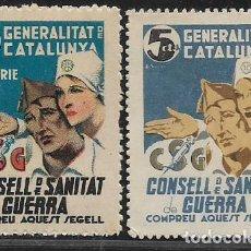 Sellos: GENERALITAT DE CATALUNYA, 5 CTS, PAREJA,- VER FOTO. Lote 277635573