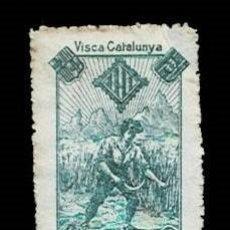 Sellos: VN1-C23 NACIONALISTAS SEPARATISTAS VISCA CATALUNYA 1900 NATHAN VERDE 4 SOBRE PAPEL BLANCO PUNTO CL. Lote 278339973