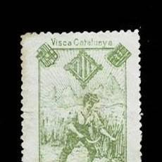 Sellos: VN1-C23 NACIONALISTAS SEPARATISTAS VISCA CATALUNYA 1900 NATHAN VERDE MANZANA 6 SOBRE PAPEL BLANCO. Lote 278340098