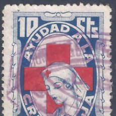 Sellos: AYUDAD A LA CRUZ ROJA 1937. 10 CTS.. Lote 278697453