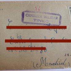 Francobolli: SOBRE CON CARTA - CENSURA MILITAR DE TINEO - REMITE DE TUÑA - ASTURIAS - AÑO 1940. Lote 280843198