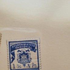 Sellos: AYUNTAMIENTO NACIONAL CASTELLFOLLIT DE LA ROCA.VIÑETA 1 PTA. Lote 280959193