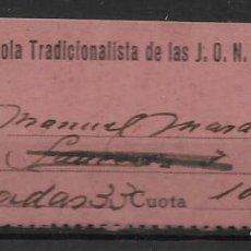 Sellos: SEVILLA, F.E.T. J.O.N.S. CUOTA, VER FOTO. Lote 282073368
