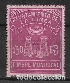 LA LINEA-CADIZ- 1,50 PTAS. TIMBRE MUNICIPAL, VER FOTO (Sellos - España - Guerra Civil - Viñetas - Usados)