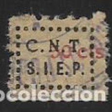 Sellos: C.N.T. 30 CTS. -SINDICATO UNICO DE ESPECTACULOS PUBLICOS, VER FOTO. Lote 282187568