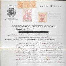 Sellos: PEGALAJAR,-JAEN-, FIRMADO, EL ALCALDE- CONSEJO MUNICIPAL- REPUBLICANO- ENERO DE 1939,- VER FOTO. Lote 282488158