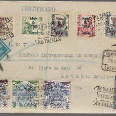 Sellos: CARTA CIRCULADA DE LAS PALMAS A BELGICA,- VER FOTOS. Lote 283502708