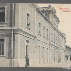 Sellos: POSTAL- ALICANTE- ESTACION DE LA MARINA,- VER FOTO. Lote 283508583