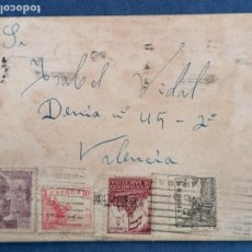Sellos: ESPAÑA CARTA GUERRA CIVIL AÑO 1941 SELLSO FRANCO CID Y BARCELONA. Lote 284102208