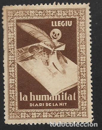 SEGELL CATALUNYA, LLEGIU .- LA HUMANITAT ,, VER FOTO (Sellos - España - Guerra Civil - Viñetas - Nuevos)
