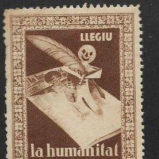 Sellos: SEGELL CATALUNYA, LLEGIU .- LA HUMANITAT ,, VER FOTO. Lote 284312378