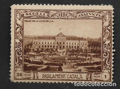 SEGELL CATALUNYA, -PARLAMENT CATALA-, VER FOTO (Sellos - España - Guerra Civil - Viñetas - Nuevos)
