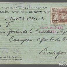 Sellos: POSTAL PATRIOTICA,- GOBIERNO CIVIL LA CORUÑA,- C.M. LA CARUÑA- VER FOTOS. Lote 284312853